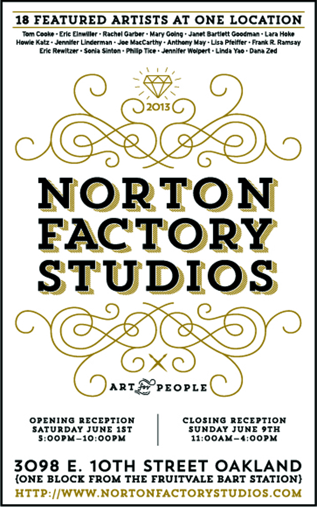 Save the Date - Norton Factory Open Studios 2013