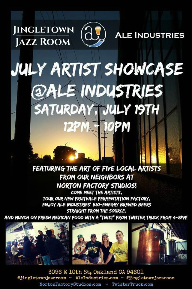 July Artist Showcase at Jingletown Jazz Room at Ale Industries