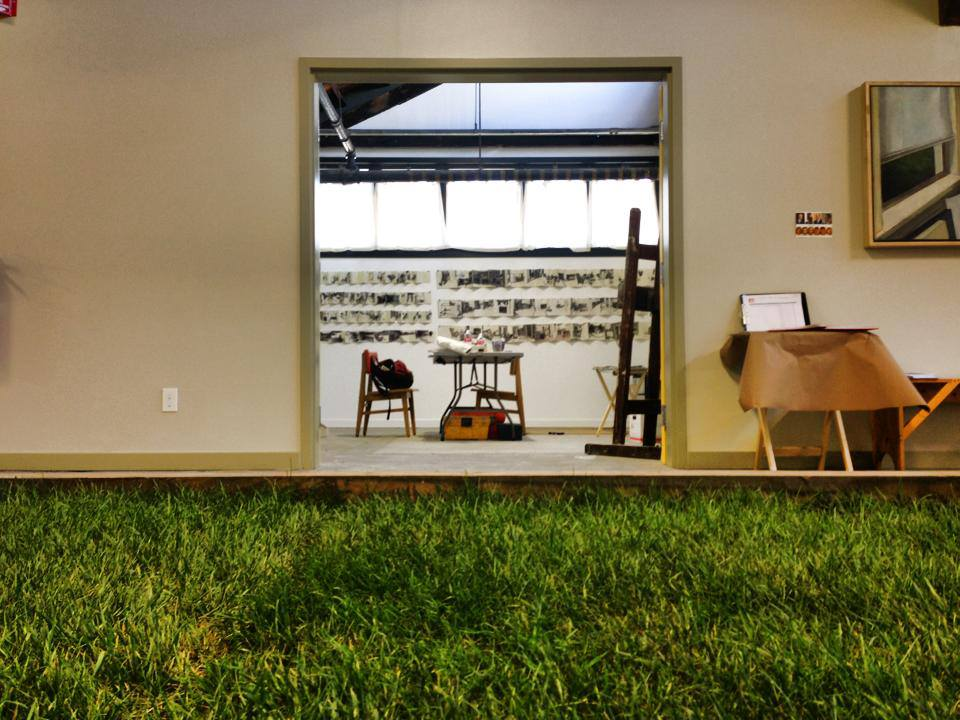 Grass installment and studio 9